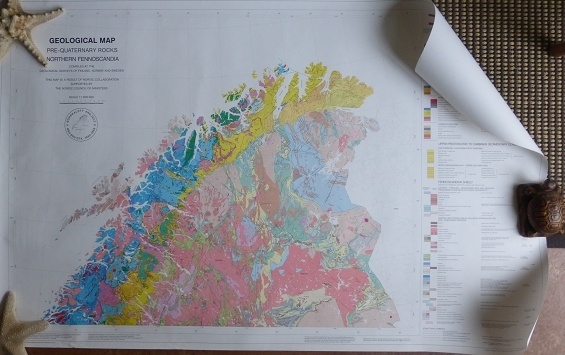 Karta Zinkgruvan.Lingua Terrae Books Geology Scandinavia